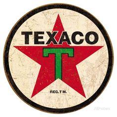 Texaco '36 Round Placa de lata