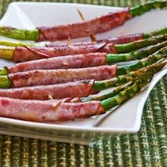Kalyns Kitchen®: Recipe for Roasted Asparagus Wrapped in Ham  [#SouthBeachDiet friendly from Kalyn's Kitchen]