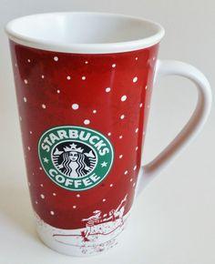 Starbucks Holiday Christmas Winter Ice Skating Tall Cup Mug 2007 16 oz NEW NWT #Starbucks