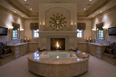 Looking for your Dream Bathroom Design? See our full photo gallery of Top 20 Luxurious Dream Bathrooms Design Ideas for your bathroom makeover. Dream Bathrooms, Dream Rooms, Beautiful Bathrooms, Luxury Bathrooms, Fancy Bathrooms, Mansion Bathrooms, Romantic Bathrooms, Large Bathrooms, Mediterranean Bathroom Design Ideas