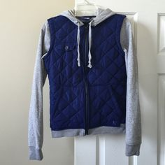 Hurley Quilt Jacket Brand new without tags Hurley navy and gray quilted knit jacket, super comfortable and looks great on! Would keep, but it's a little too small for my liking. Hurley Jackets & Coats