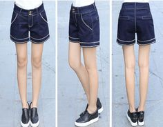 PJ000669 Soft Casual personality fashion all-match short jeans