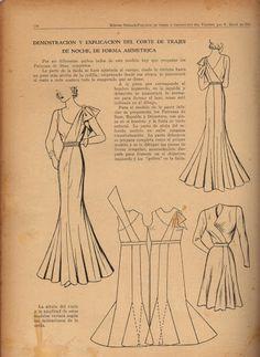 Vintage 1940s Dress Pattern Draft