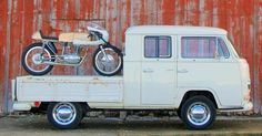 A 1960s VW Pick-Up, with a matching Ducati Monza 250 resto-mod. Does it get any better than this?