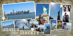 Digital Scrapbook Layout (Statue of Liberty) using We the People and Freebird Artsy Papers by Libby Pritchett and template by Yin Designs