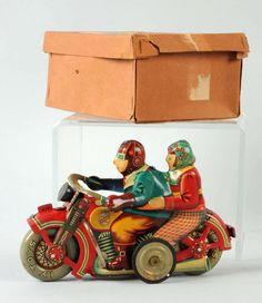 Very Rare Japanese Tin Litho Romance Motorcycle. : Lot 794A