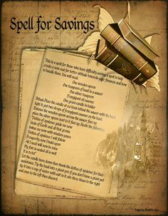 Money magick spell page 1 - LaPulia Book of Shadows Wiccan Witch, Magick Spells, Wicca Witchcraft, Voodoo Spells, Candle Spells, Prosperity Spell, Witchcraft Supplies, Tarot, Fete Halloween