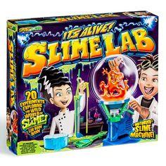 Measure, mix, and concoct icky-sticky goo like a real mad scientist with this one-of-a-kind laboratory kit. The motorized Slime-O-Nator makes your Slime Lab, Slime Games, Lab Equipment, Science Kits, Sports Toys, Toys Online, Cool Toys, Kids Toys, Make It Yourself