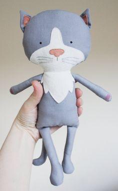 Cat Sewing Pattern Kitten Softie Plush Toy Cloth Doll Pattern PDF. $9.00, via Etsy.