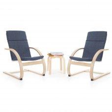 Rocking Chairs: Kiddie Rocker Chair Set - Denim