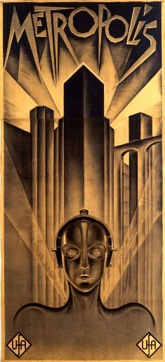 """German artist Heinz Schulz-Neudamm (1899-1969), a painter, created this poster for the famed 1927 film directed by Fritz Lang (1890-1976). The film is based on the novel of the same name by his wife, Thea Von Harbou (1888-1954), about the dystopian future of the year 2000.    """"Metropolis"""" is generally considered a masterpiece of early German filmmaking and the forerunner of modern science fiction movies. High-end estimates put the value of the poster at more than million."""