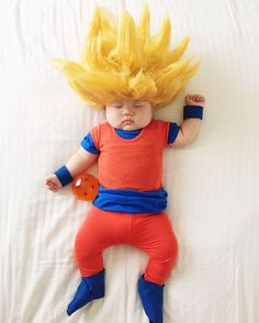 Sleeping Baby Has No Idea She Becomes The Star Of #Cosplay During Her Naps - Visit now for 3D Dragon Ball Z compression shirts now on sale! #dragonball #dbz #dragonballsuper