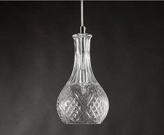 Lámpara de techo en hierro y vidrio Clothilde