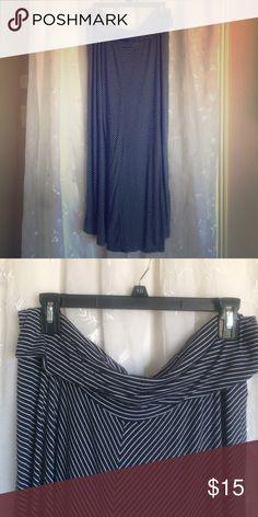 Maternity Maxi Skirt Fold-top cotton maxi skirt. Perfect for summer! Motherhood Maternity Skirts Maxi