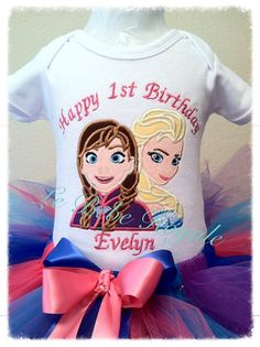 Frozen Birthday Shirt, Birthday Shirt, Elsa Birthday Party, 1ST Birthday, Anna Tutu, Frozen Tutu, Skirt, Embroidered Shirt, Ice Queen shirt