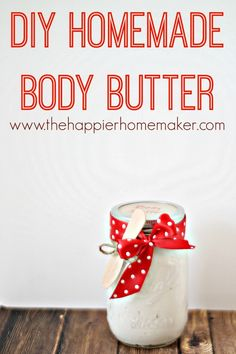 DIY Homemade Body Butter-what a great DIY Christmas gift!