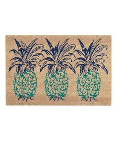 This Aqua Pineapple Door Mat is perfect! #zulilyfinds