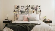 Original headboards to implement in your bedroom - Interior decoration ideas Boy Headboard, Bedroom Wall, Bedroom Decor, Bedroom Ideas, Deco Design, New Room, Modern Bedroom, Decoration, Apartment Therapy
