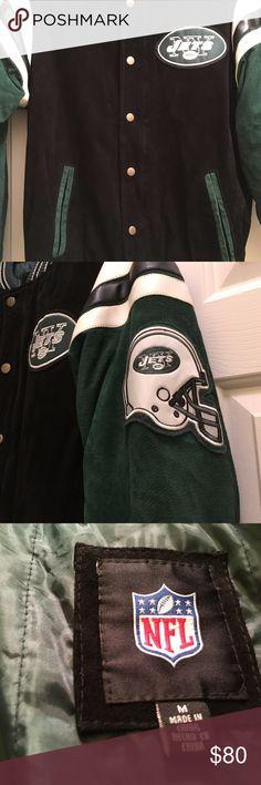 Suede and Leather Jets Jacket Like new (worn once). Men's Medium  NFL licensed jacket. NFL Jackets & Coats Bomber & Varsity