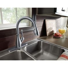 Delta Ashton Stainless 1-Handle Pull-Down Kitchen Faucet Item ... on home depot kitchen faucets, pull out kitchen sink faucets, best kitchen faucets delta, franke kitchen faucets, 3 piece kitchen faucets, hamat kitchen faucets, top 10 kitchen faucets, recommended kitchen faucets, moen kitchen faucets, kohler kitchen faucets,