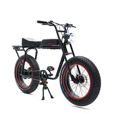 The Super 73 Scout by Lithium Cycles is an electric bicycle designed for people who hate electric bicycles. It's been developed to look nothing like other electric bikes on the market, whilst incorporating a 500 Watt hub motor (peak power output is 1050 Watts) and a 48 Volt 14.5 amp-hour lithium ion battery offering approximately...