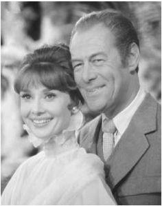 Rex Harrison and Audrey Hepburn
