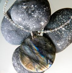 24 Labradorite and sterling silver necklace by seadragongems, $62.00