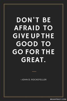 Good versus Great!