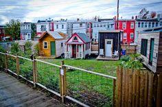 Boneyard Studios, in Washington, D.C., is an urban tiny house community on an alley lot.