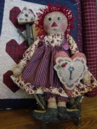 Raggedy Annie and Heart pattern