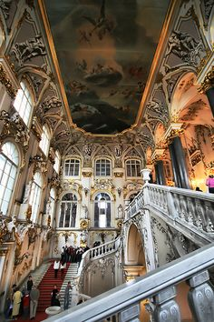Hermitage, founded by Catherine II in the 18th century is situated in The Winter Palace. St. Petersburg, Russia