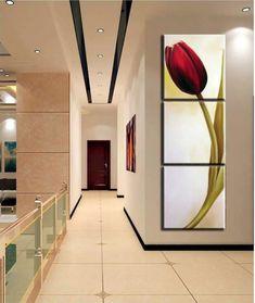 Tulip Painting, Acrylic Painting Flowers, Acrylic Painting Canvas, Diy Painting, Painting Frames, 3 Canvas Paintings, Window Mural, Panel Art, Diy Wall Art