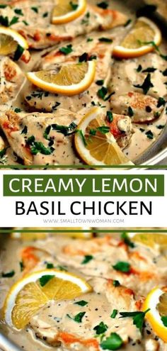 Delectable Creamy Lemon Basil Chicken perfect for weeknight meals but also special enough for a holiday or Thanksgiving dinner! It is made in one skillet and comes together quickly with only a few ingredients. Save this chicken recipe for later! Lemon Basil Chicken, Chicken Skillet Recipes, Chicken Basil Recipes, Recipes With Basil, Recipes For One, Recipes With Few Ingredients, Shrimp Recipes, Salmon Recipes, Healthy Dinner Recipes