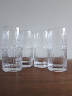 iittala Niva Highball Glasses Tapio Wirkkala - Set of Four