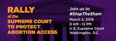 Rally to #StopTheSham