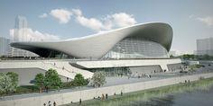 Future architecture. Art. Organic forms.