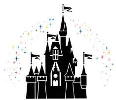 Cinderella Castle Silhouette | Give me enough time to create things and we will be good friends!!