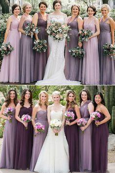 064ff38913471 different shades of purple bridesmaid dresses mix n match #weddings  #bridesmaidsbridesmaids wedding mismatched