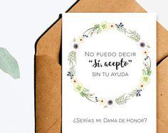 Quisieras ser mi dama de honor dama de honor serias mi dama #dama #damadehonor #tarjetasdamadehonor #tarjetasdamahonor #tarjetas #imprimibles #madrinadehonor #bridesmaid #inspanish #enespañol #printables #español #spanish #maidofhonor #printablecards