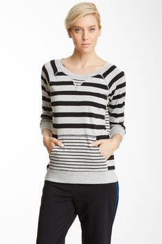 Jones New York | Jones New York Stripe Raglan Sleeve Pullover | Nordstrom Rack