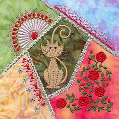 Crazy Gorgeous: A Gallery of Crazy Patchwork Embroidery Designs