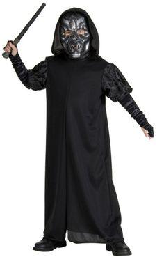 Kuolonsyöjä. Kuolonsyöjän naamiaisasu koostuu mustasta kaavusta ja hopeisesta naamiosta. Kuolonsyöjien parhaimmisto on lisäksi varustettu tatuoinnilla, jonka avulla lordi Voldemort kommunikoi heidän kanssaan.