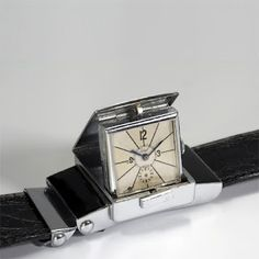1940's hidden dial pop-up wristwatch