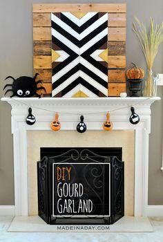 DIY Halloween Gourd Garland
