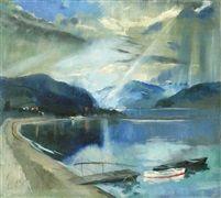 Danube-bend oil on canvas 90,5 x 100 cm