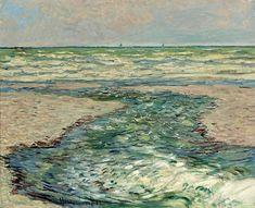 1882 Claude Monet River at Pourville,low tide(private collection)(65 x 81 cm)