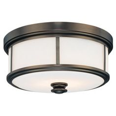 Check out this item at One Kings Lane! Harvard Court Flush Mount, Bronze