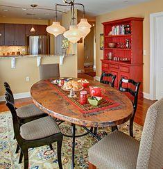Dining area - Luxury Condo - Eclectic - Dining Room - Newark - Tracey Stephens Interior Design Inc Dining Room Hutch, Dining Room Sets, Dining Room Design, Dining Room Furniture, Dining Area, Dining Tables, Furniture Ideas, Furniture Design, Vintage Interior Design