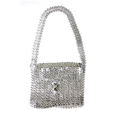 Iconic Paco Rabanne Chainmaille Handbag | From a collection of rare vintage handbags and purses at https://www.1stdibs.com/fashion/accessories/handbags-purses/