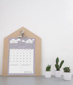 printable calendrier diy calendrier à imprimer free printable janvier 2016